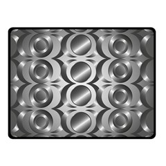 Metal Circle Background Ring Double Sided Fleece Blanket (Small)