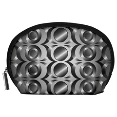 Metal Circle Background Ring Accessory Pouches (Large)