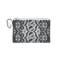 Metal Circle Background Ring Canvas Cosmetic Bag (S)