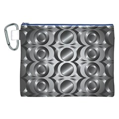 Metal Circle Background Ring Canvas Cosmetic Bag (xxl)