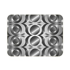 Metal Circle Background Ring Double Sided Flano Blanket (Mini)