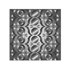 Metal Circle Background Ring Small Satin Scarf (square)