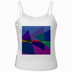 Abstract #415 Tipping Point White Spaghetti Tank