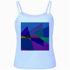 Abstract #415 Tipping Point Baby Blue Spaghetti Tank