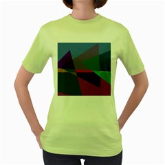 Abstract #415 Tipping Point Women s Green T-Shirt
