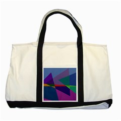 Abstract #415 Tipping Point Two Tone Tote Bag