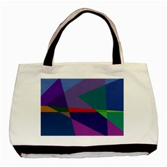Abstract #415 Tipping Point Basic Tote Bag (two Sides)