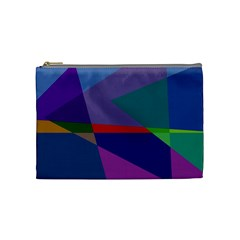 Abstract #415 Tipping Point Cosmetic Bag (Medium)