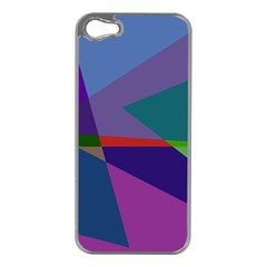 Abstract #415 Tipping Point Apple iPhone 5 Case (Silver)