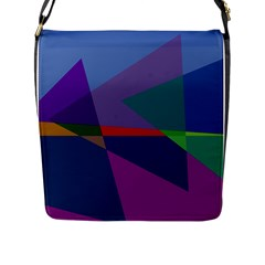 Abstract #415 Tipping Point Flap Messenger Bag (L)