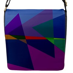 Abstract #415 Tipping Point Flap Messenger Bag (S)