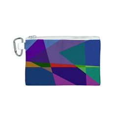 Abstract #415 Tipping Point Canvas Cosmetic Bag (S)