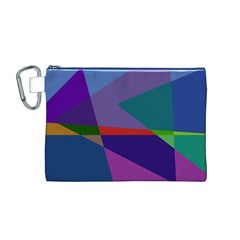 Abstract #415 Tipping Point Canvas Cosmetic Bag (M)