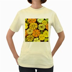 Abstract #417 Women s Yellow T-Shirt