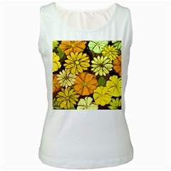 Abstract #417 Women s White Tank Top