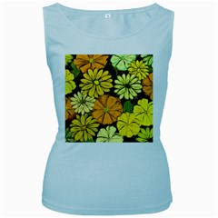Abstract #417 Women s Baby Blue Tank Top