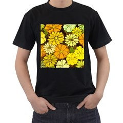 Abstract #417 Men s T-Shirt (Black) (Two Sided)