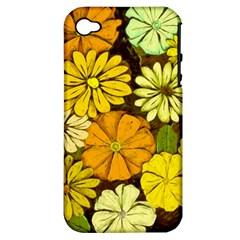 Abstract #417 Apple Iphone 4/4s Hardshell Case (pc+silicone)