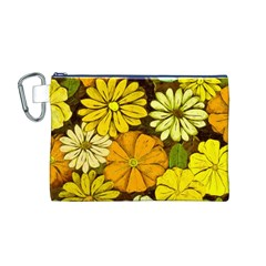 Abstract #417 Canvas Cosmetic Bag (M)