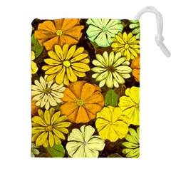 Abstract #417 Drawstring Pouches (XXL)
