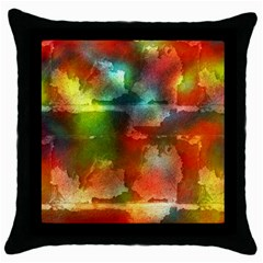 Peeled wall                         Throw Pillow Case (Black)