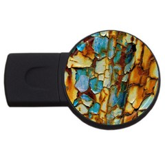 Rusty texture                         USB Flash Drive Round (4 GB)