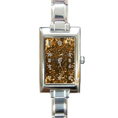 Festive Bubbles Sparkling Wine Champagne Golden Water Drops Rectangle Italian Charm Watch