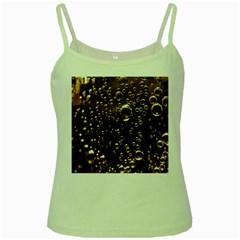 Festive Bubbles Sparkling Wine Champagne Golden Water Drops Green Spaghetti Tank