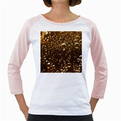 Festive Bubbles Sparkling Wine Champagne Golden Water Drops Girly Raglans
