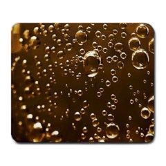 Festive Bubbles Sparkling Wine Champagne Golden Water Drops Large Mousepads