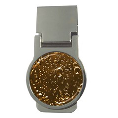 Festive Bubbles Sparkling Wine Champagne Golden Water Drops Money Clips (round)