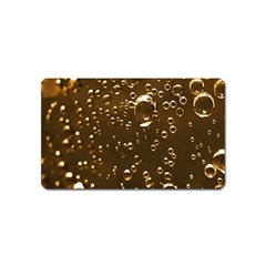 Festive Bubbles Sparkling Wine Champagne Golden Water Drops Magnet (name Card)