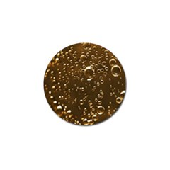 Festive Bubbles Sparkling Wine Champagne Golden Water Drops Golf Ball Marker
