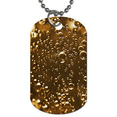 Festive Bubbles Sparkling Wine Champagne Golden Water Drops Dog Tag (two Sides)