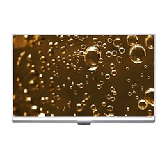 Festive Bubbles Sparkling Wine Champagne Golden Water Drops Business Card Holders