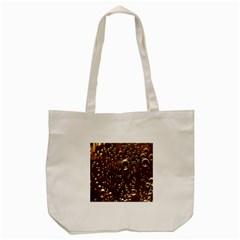Festive Bubbles Sparkling Wine Champagne Golden Water Drops Tote Bag (Cream)