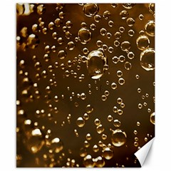 Festive Bubbles Sparkling Wine Champagne Golden Water Drops Canvas 8  x 10
