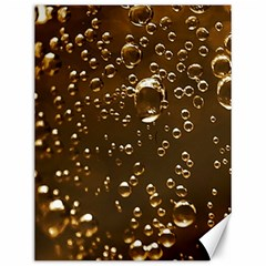 Festive Bubbles Sparkling Wine Champagne Golden Water Drops Canvas 12  x 16