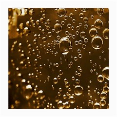 Festive Bubbles Sparkling Wine Champagne Golden Water Drops Medium Glasses Cloth (2-Side)