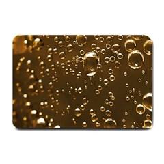 Festive Bubbles Sparkling Wine Champagne Golden Water Drops Small Doormat