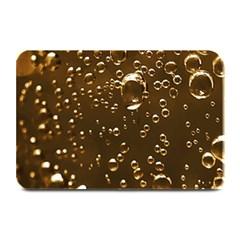 Festive Bubbles Sparkling Wine Champagne Golden Water Drops Plate Mats
