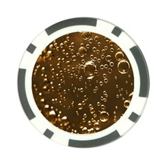 Festive Bubbles Sparkling Wine Champagne Golden Water Drops Poker Chip Card Guard