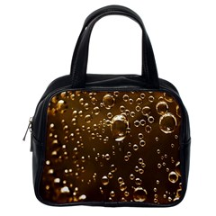 Festive Bubbles Sparkling Wine Champagne Golden Water Drops Classic Handbags (one Side)