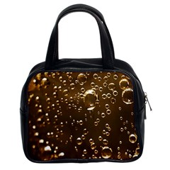 Festive Bubbles Sparkling Wine Champagne Golden Water Drops Classic Handbags (2 Sides)