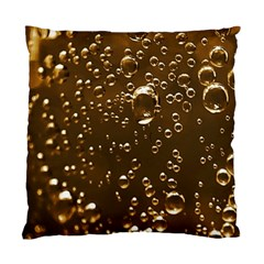 Festive Bubbles Sparkling Wine Champagne Golden Water Drops Standard Cushion Case (Two Sides)