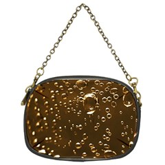 Festive Bubbles Sparkling Wine Champagne Golden Water Drops Chain Purses (Two Sides)