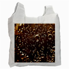 Festive Bubbles Sparkling Wine Champagne Golden Water Drops Recycle Bag (One Side)