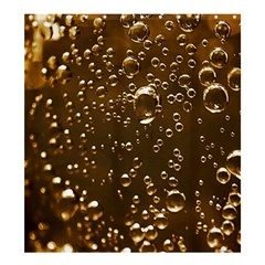 Festive Bubbles Sparkling Wine Champagne Golden Water Drops Shower Curtain 66  x 72  (Large)