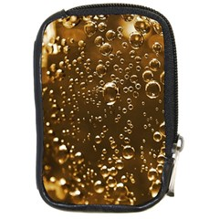 Festive Bubbles Sparkling Wine Champagne Golden Water Drops Compact Camera Cases