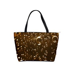 Festive Bubbles Sparkling Wine Champagne Golden Water Drops Shoulder Handbags